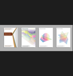 minimal covers set future geometric design vector image vector image