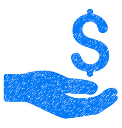 Money donation grunge icon vector