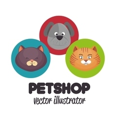 Pet shop veterinary design graphic vector