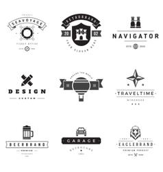 Retro logotypes set vector