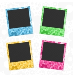 Set of flowers photo frames vector image