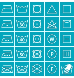 Set of washing symbols vector image vector image