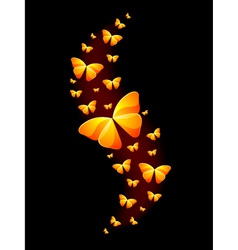 Shiny Butterflies vector image