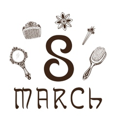 The eight 8 of march date vector image vector image