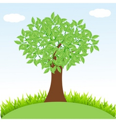 tree on landscape vector image vector image