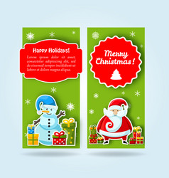 two green new year banner set vector image vector image