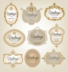 Vintage Retro Labels vector image
