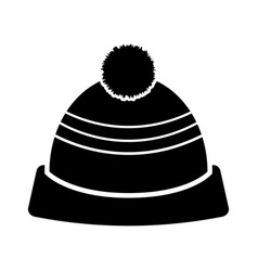 winter hat silhouette vector image vector image