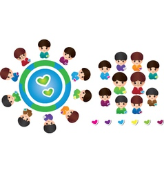 International children vector