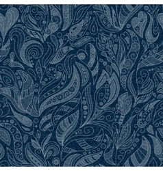 SEAMLESS DENIM FLORAL PATTERN vector image
