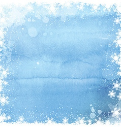 Watercolor christmas snowflake background 0211 vector