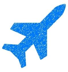 Aeroplane grainy texture icon vector