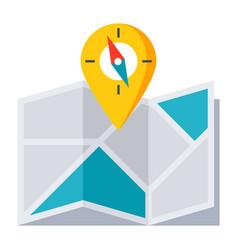 Location map icon vector