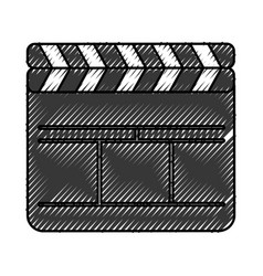 Clapperboard film isolated icon vector
