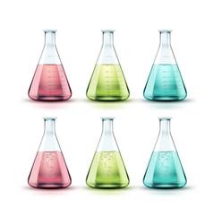Set of flasks vector