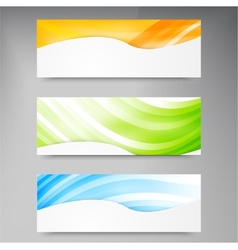 Set of modern banners with lines vector