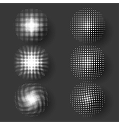 halftone patterns vector image