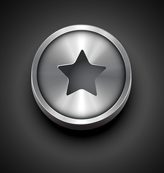 Metallic star icon vector