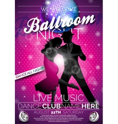 Ballroom Night Party Flyer design vector image