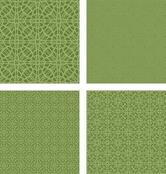 Pastel green seamless pattern background set vector