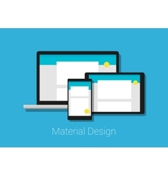 Material deign responsive interface layout vector
