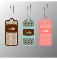 Ornate sale tags set vector