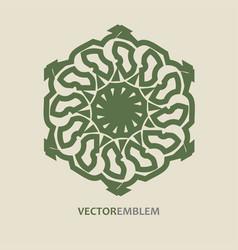 abstract hexagon emblem vector image