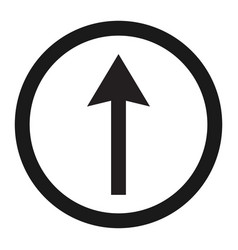 ahead only and drive straight sign line icon vector image vector image