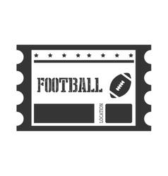 American footbal ticket icon vector