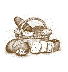 Bakery products drawn by hand vector image