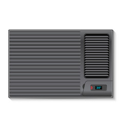 black air conditioner for the wall vector image vector image