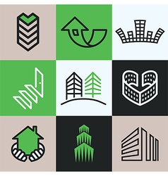 Buildings logo icons vector