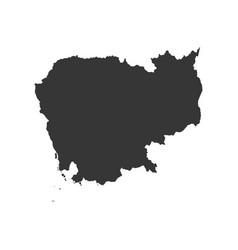 Cambodia map silhouette vector