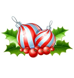 christmas decoration of ball vector image vector image