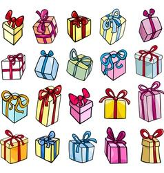 christmas or birthday gift clip art set vector image