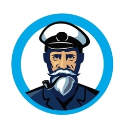 Color captain icon vector
