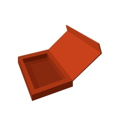 Empty brown chocolate box cartoon icon vector image vector image