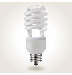 Energy saving bulb vector image