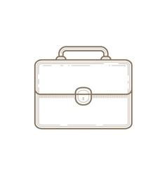 Flat Line briefcase Icon vector image vector image