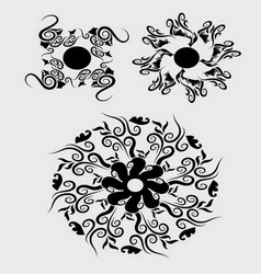 Floral element 2 vector image vector image