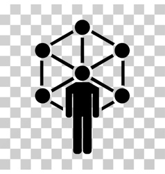 Human network icon vector