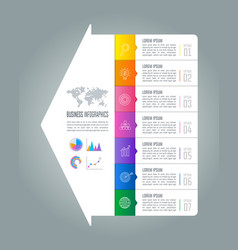 Infographic design business concept with 7 options vector