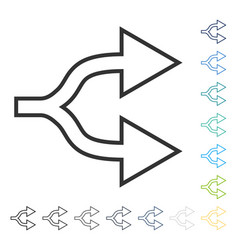 Junction arrow right icon vector