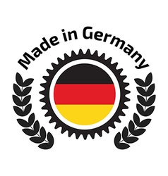 Made in germany badge vector