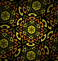 Mandala round ornament pattern islam arabic indian vector