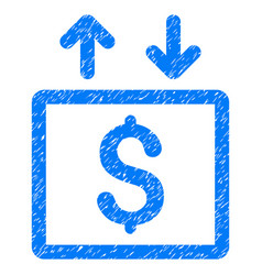 Money elevator grunge icon vector