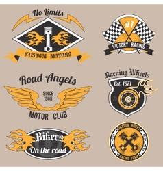 Motorcycle design badges vector