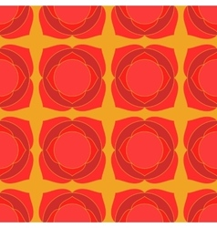 Red lotus geometric seamless pattern vector image