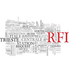 Rfi word cloud concept vector