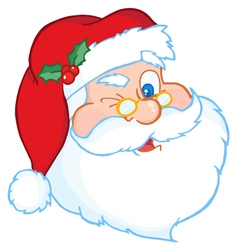 Santa Winking vector image vector image